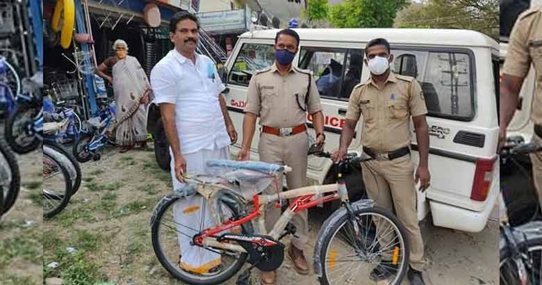 police cycle